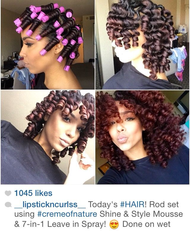 Pink Perm Rods Hair Styles Natural Hair Styles Curly Hair Styles