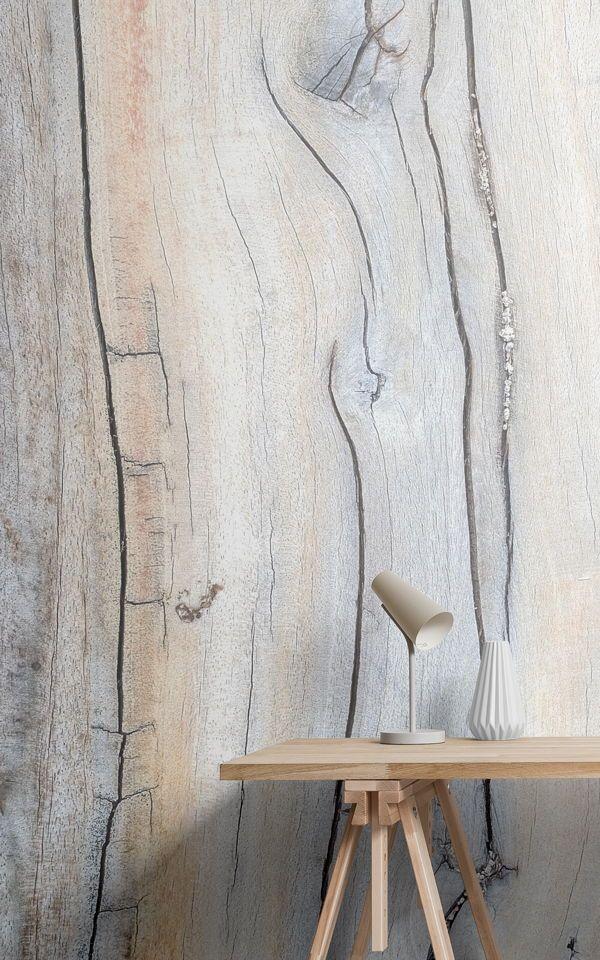 Mural de pared Detalle de madera desgastada Pinterest Papel - tapices modernos