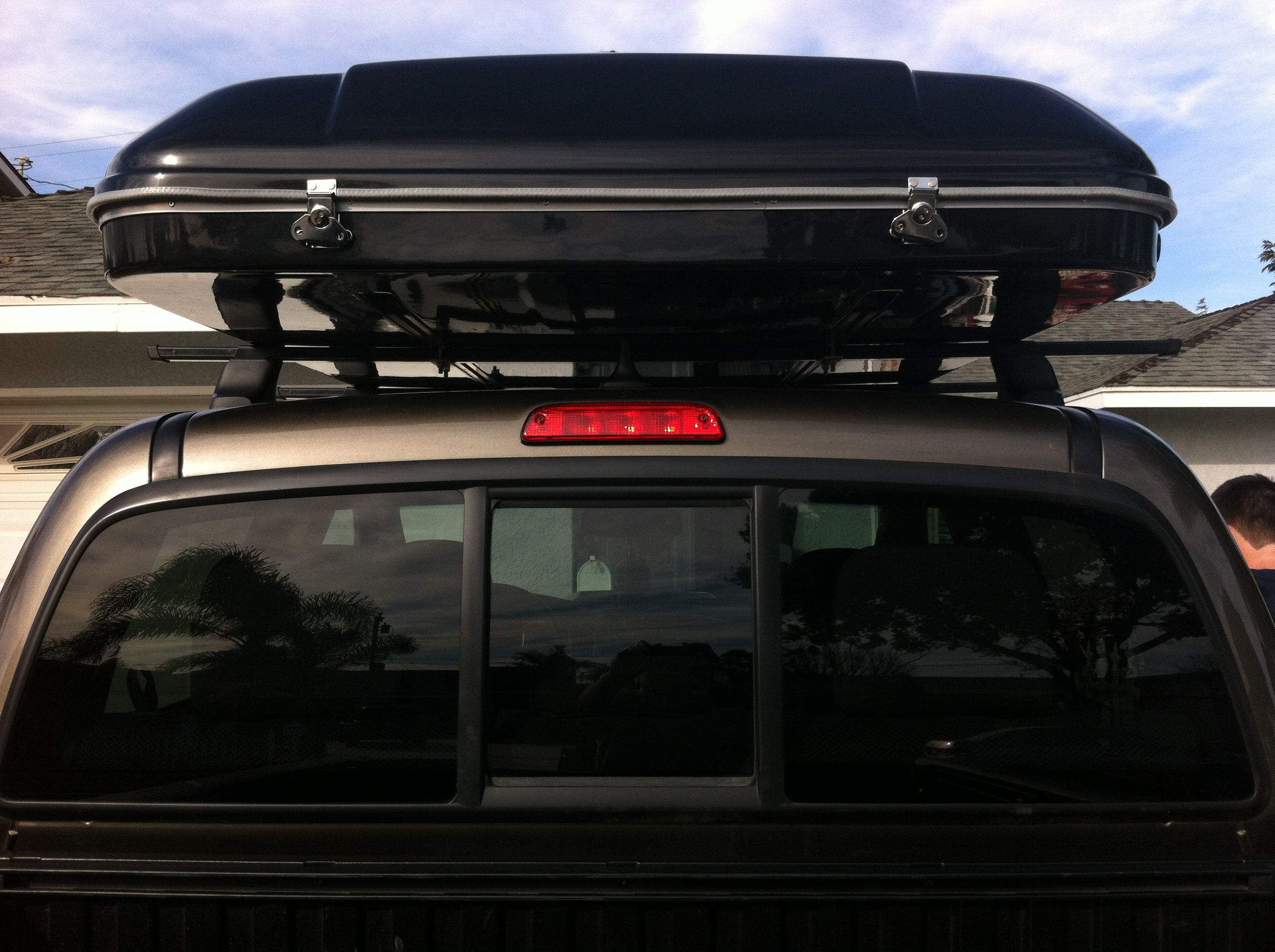 Hard Shell Roof Top Tent over the cab from the rear view .bigfoottents. & Hard Shell Roof Top Tent over the cab from the rear view www ...