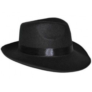 chapeau gangster noir homme chapeau borsalino ann e 20. Black Bedroom Furniture Sets. Home Design Ideas