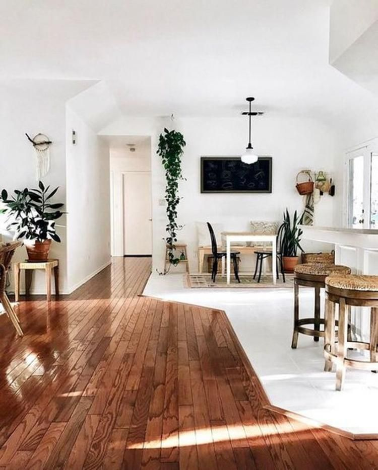 rustic wooden floor living room design inspirations that must you see also wood stained stairs rug and plants home entry way in rh pinterest