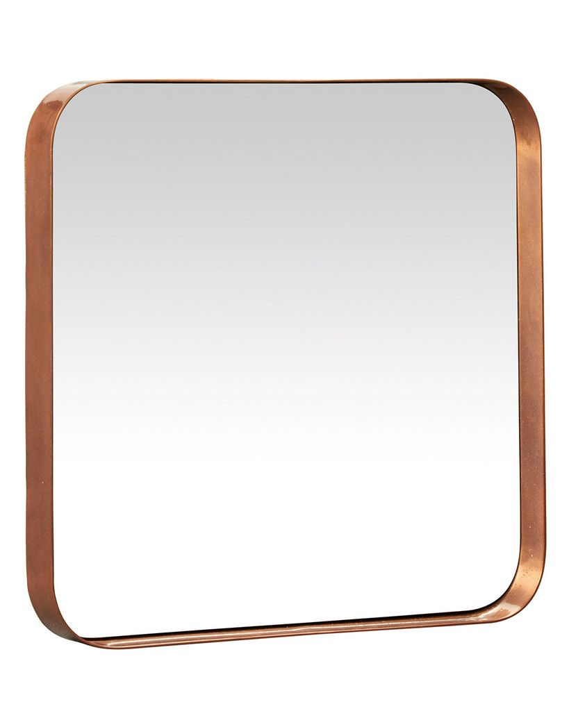 Large copper kelly square mirror everything 39 s big for Big square mirror