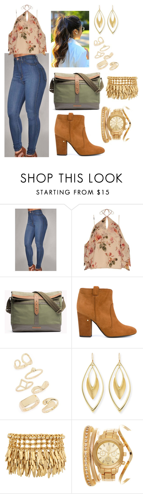 """""""Sem título #939"""" by clariinhafloor on Polyvore featuring moda, Exclusive for Intermix, Laurence Dacade, Topshop, Alexis Bittar e Henri Bendel"""