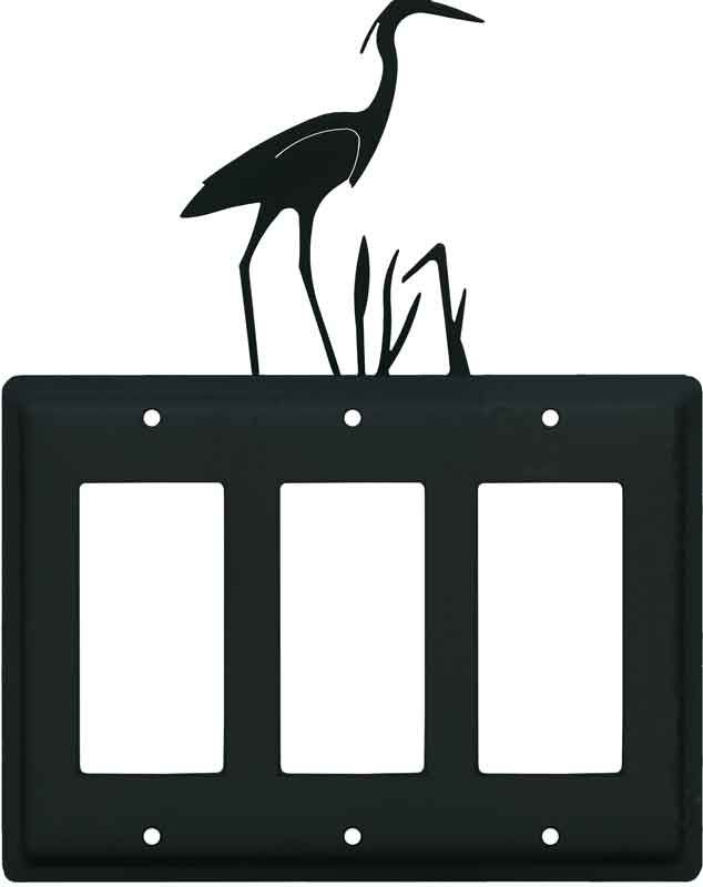 Heron Black Light Switch Plates, Outlet Covers, Wallplates