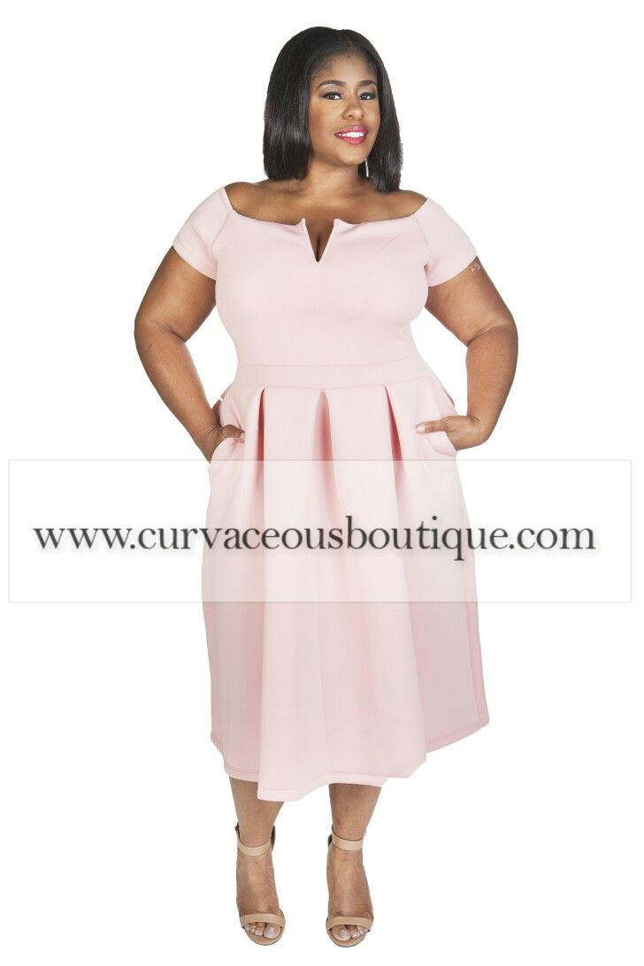 NEW ARRIVAL ALERT      BLUSH  DOROTHY POCKET FLARE DRESS    (( MODEL WEARING 1X )) SIZE  1X  2X  3X  COLORS  WHITE  BLUE  ROYAL BLUE  WWW.CURVACEOUSBOUTIQUE.COM & IN STORE ❎VISIT THE WEBSITE FOR ALL DETAILS and PRICE ❎  WE SHIP WORLDWIDE