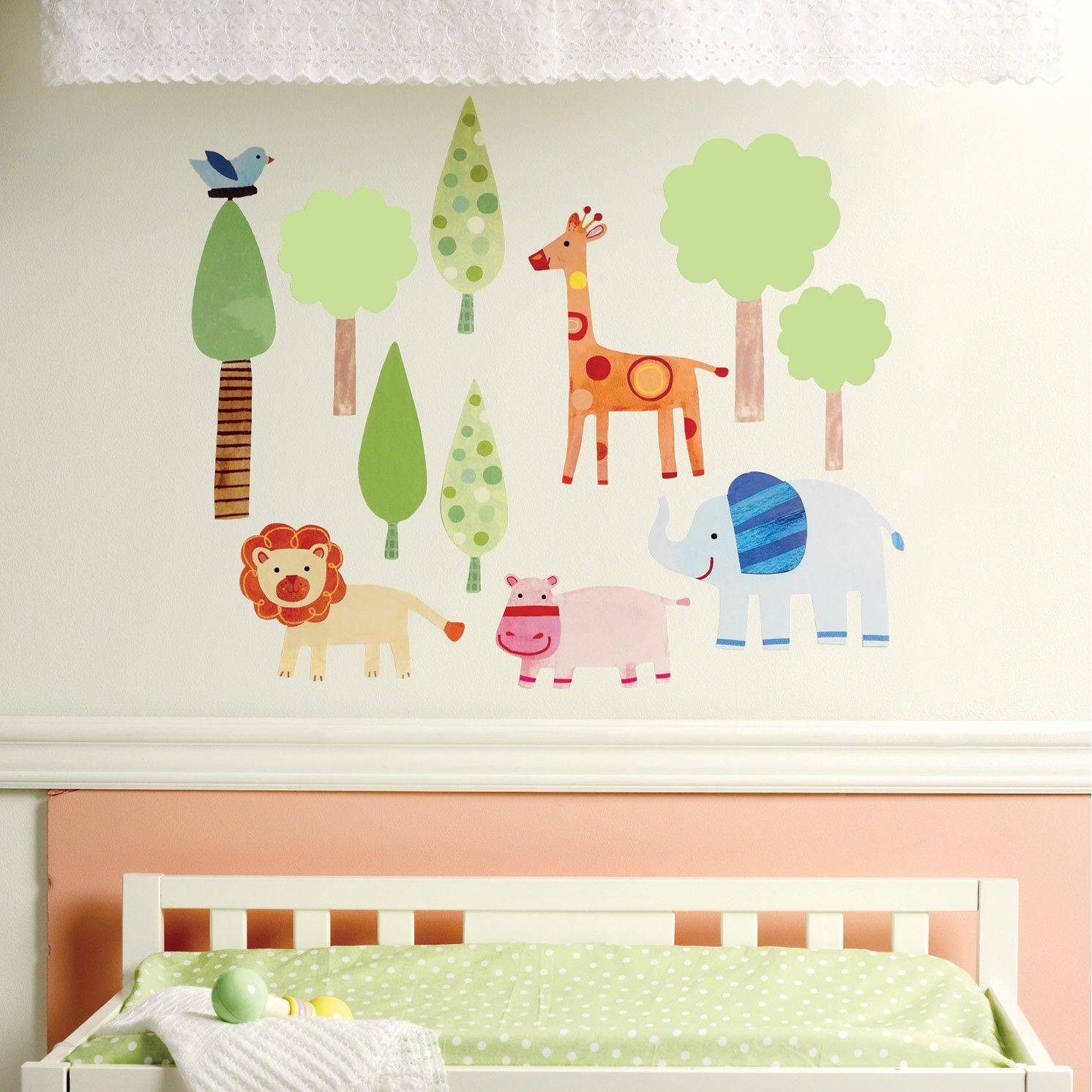 Wallies Zoo Baby Wall Sticker Baby Wall Decals Baby Wall Stickers Childrens Wall Stickers