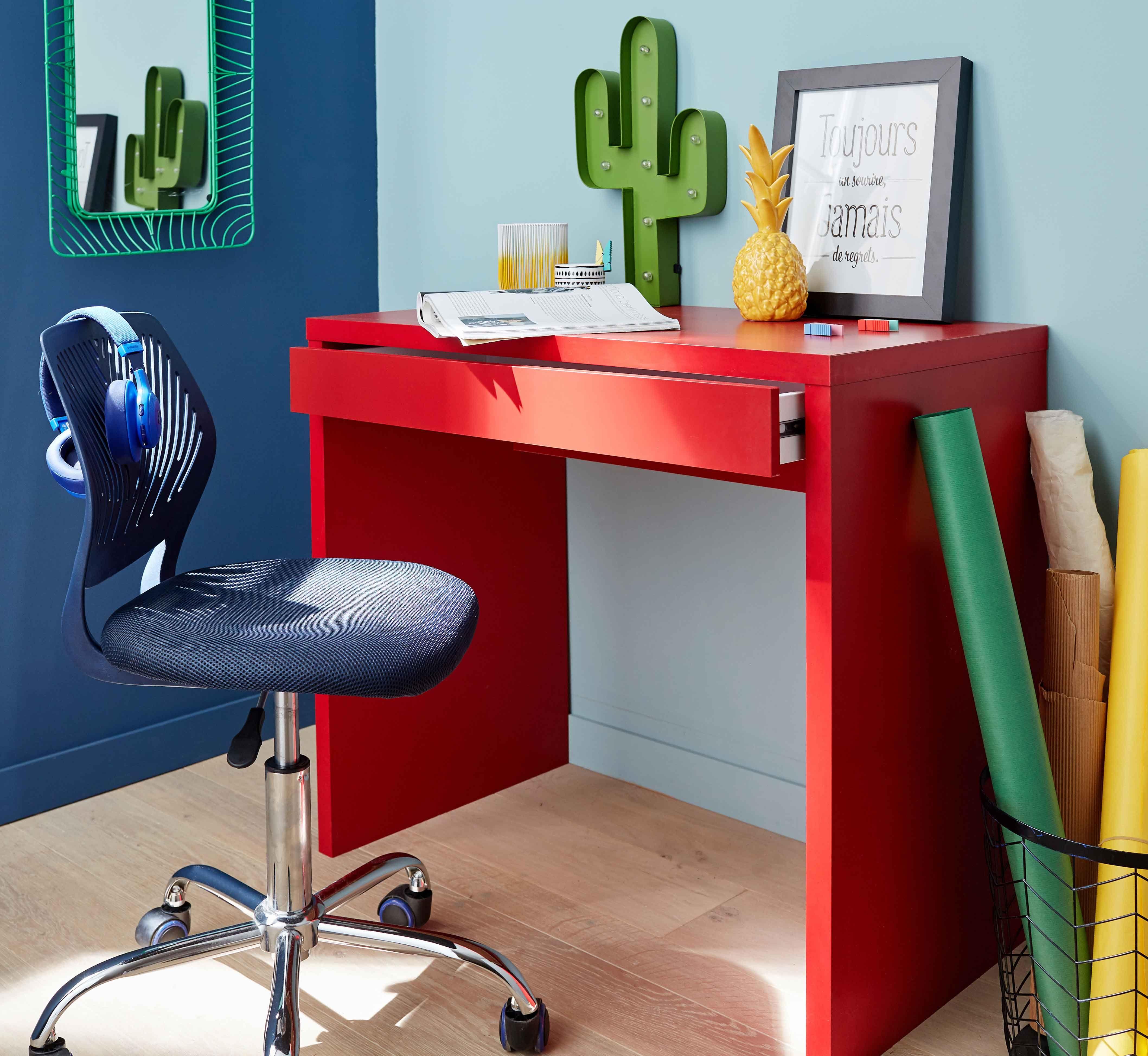 Ugo Bureau rouge Console 1 tiroir Alinéa