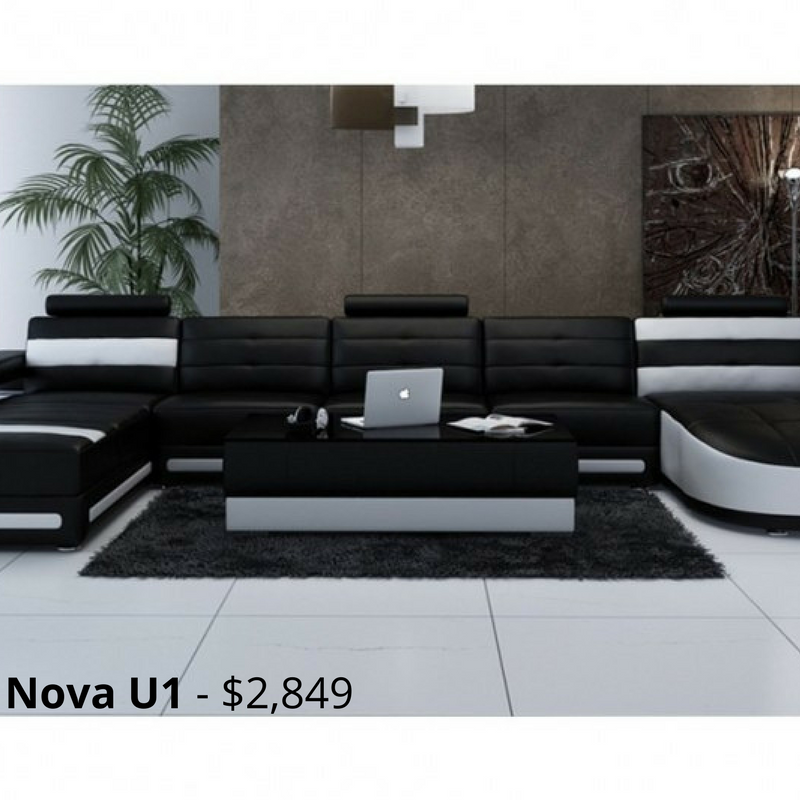 Nova U1 Leather Sofa Modular Lounge Provides Ultimate Comfort