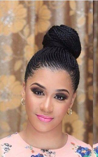 Natte collé africaine model chéri en 2019 Nattes