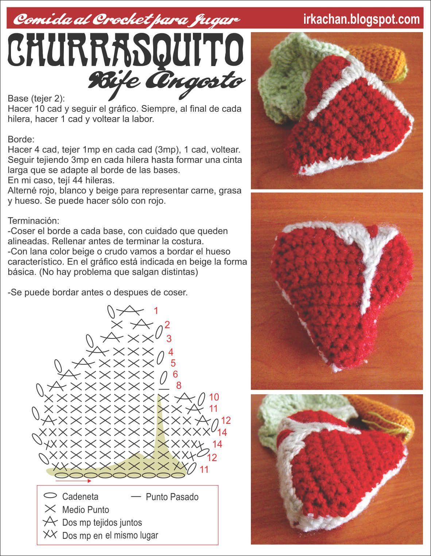 Irka!: Comida al Crochet - parte 2 | crochet | Pinterest