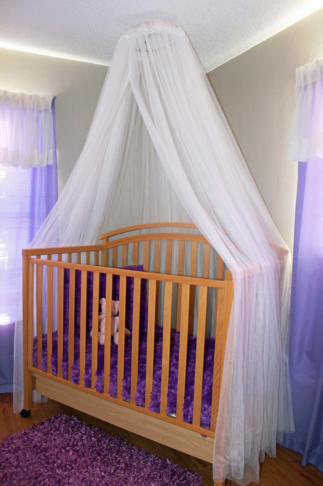 nursery canopy crib