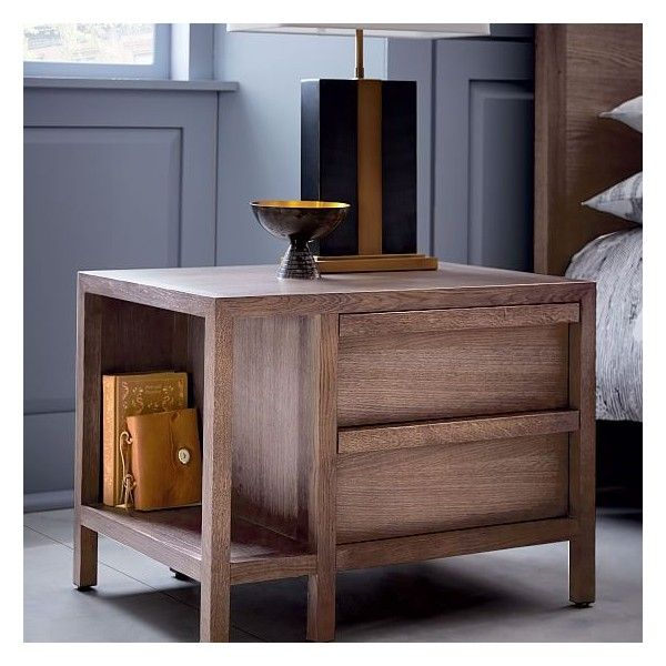 West Elm Mesa Nightstand featuring polyvore, home, furniture ...