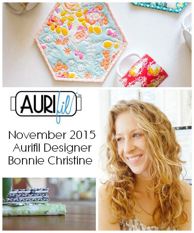Pat Sloan introduced the 2015 November Aurifil Designer of the Month Bonnie Forkner from going home to roost!   https://auribuzz.wordpress.com/2015/11/15/aurifil-2015-november-designer-of-the-month-bonnie-christine/