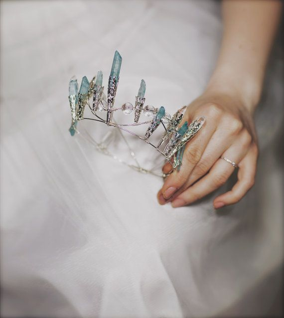 Ungewöhnliche Kristall Quarz Türkis Krone inspirierte von beretkah
