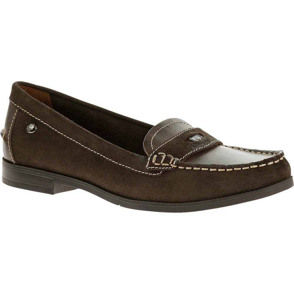 Women S Hush Puppies Iris Sloan 7 W In Dark Brown Suede Leather Heel Height 3 4 Origin Importe Flat Shoes Women Most Comfortable Shoes Comfortable Shoes