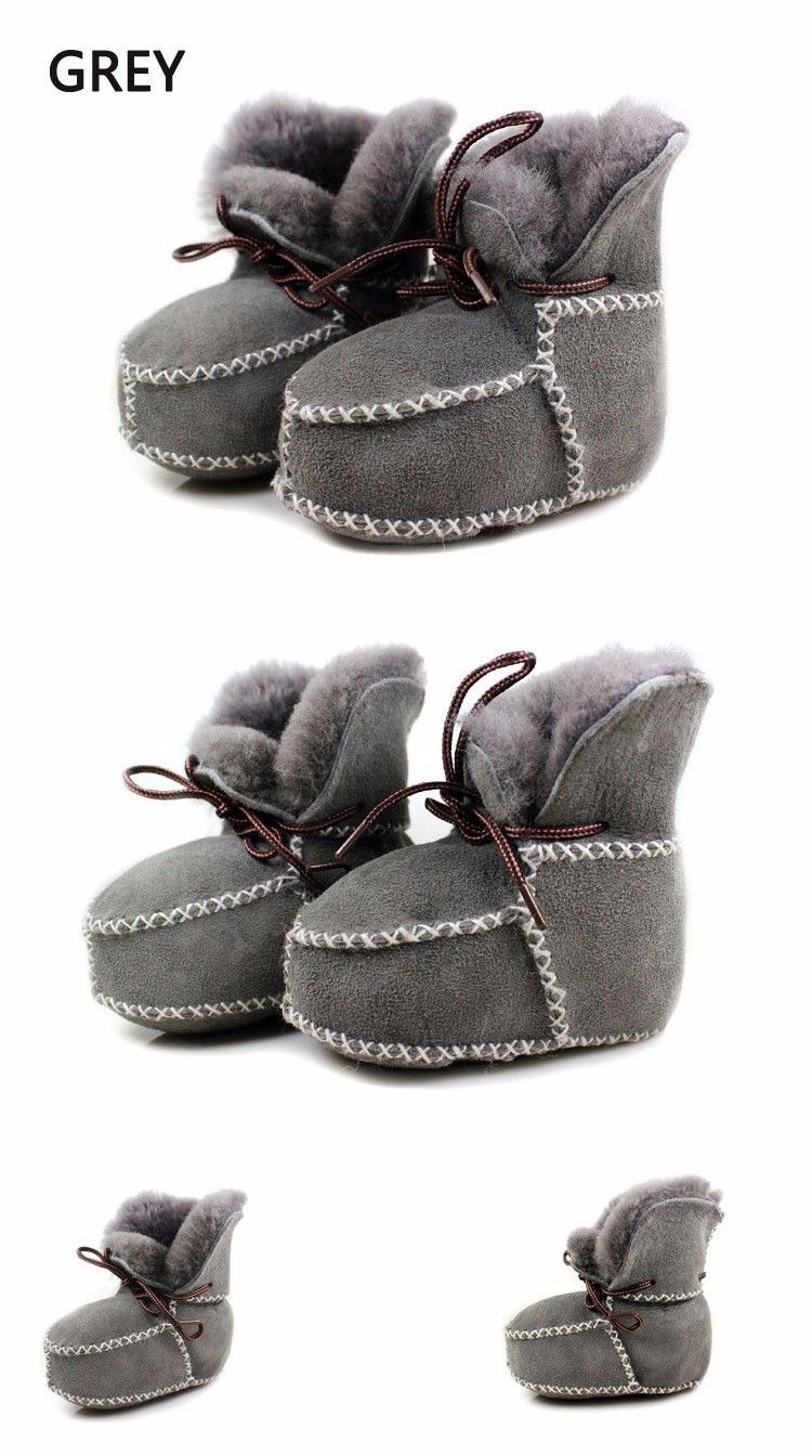 Sheepskin genuine leather winter baby shoes Baby shoes