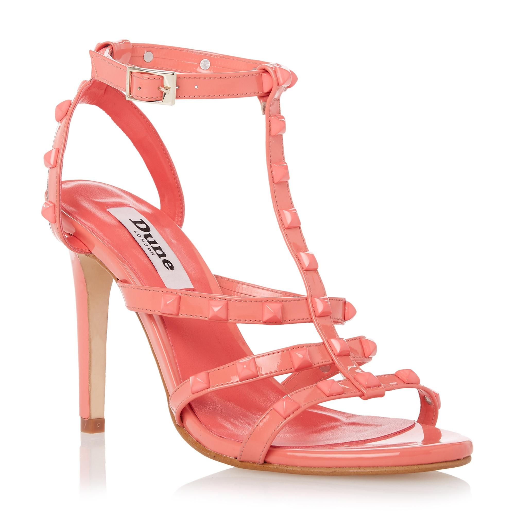9cd398bde51 DUNE LADIES MELANY - Studded Strappy High Heel Sandal - coral