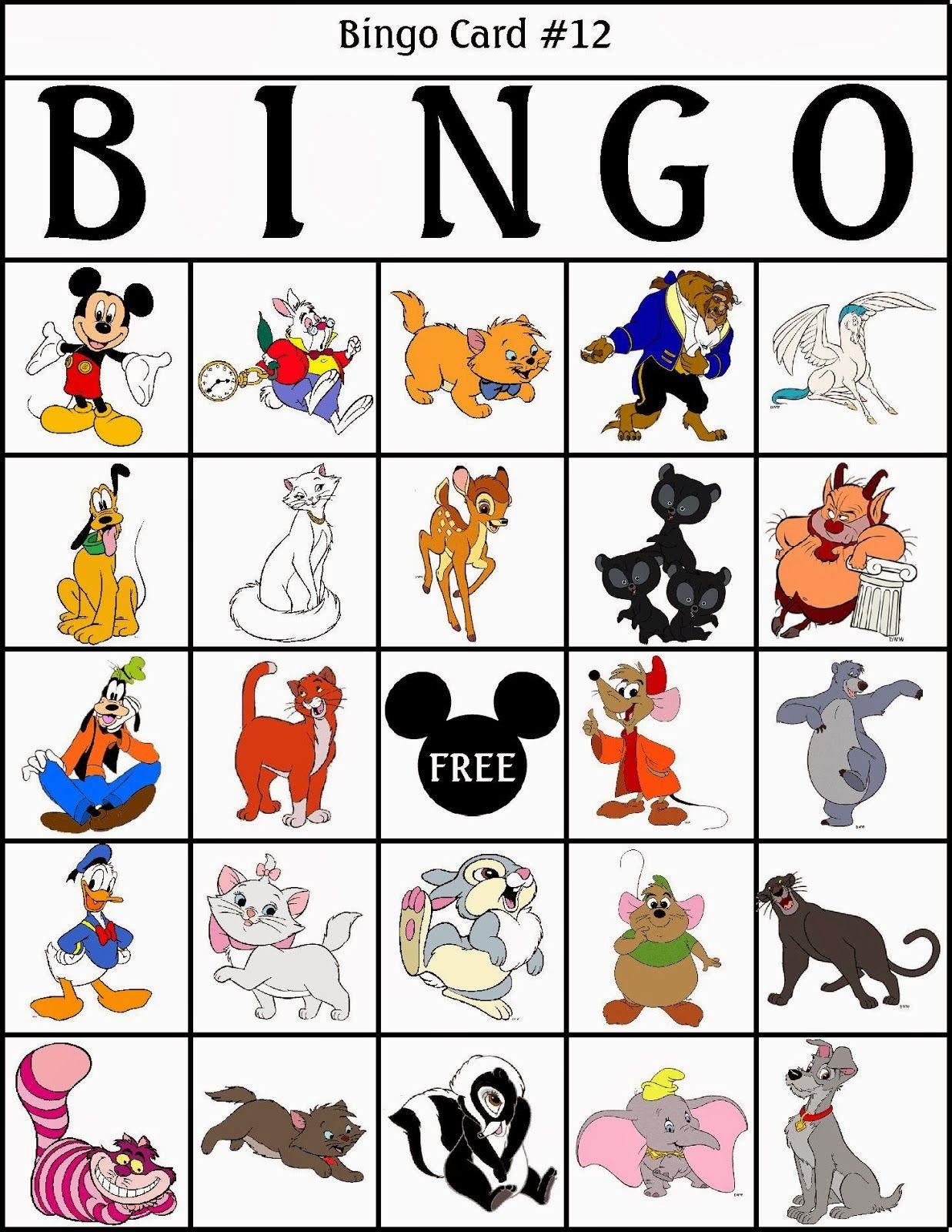 Bingo De Personajes Disney Para Imprimir Gratis Bingo