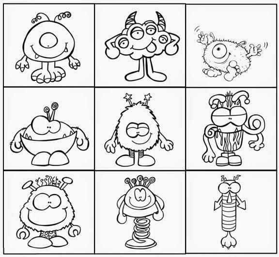 Monsterhaftes Lesegitter Zum Abschluss Des Heutigen Tages Gibt Es Noch Ein Lesegitter Mit Kleinen Monster Kleine Monster Monster Malen Kinder Basteln Und Malen