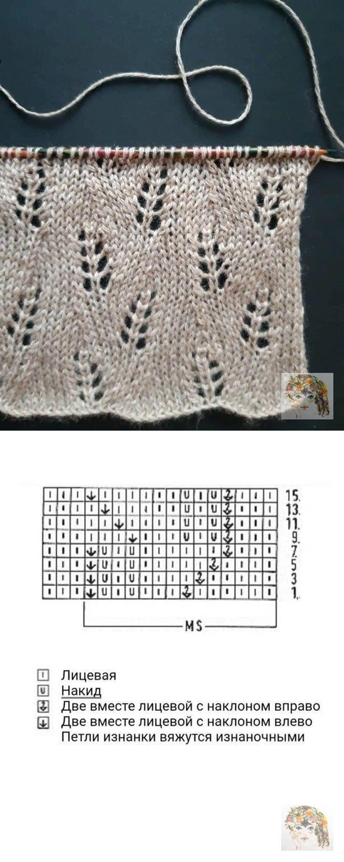 Вязание: Уроки, Узоры, Схемы #knitting