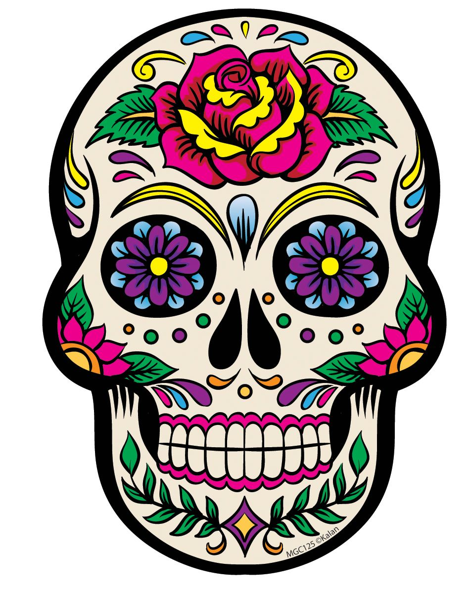 white sugar skull magnet tattoos pinterest sugar skulls rh pinterest com sugar skull clip art black and white simple sugar skull clip art