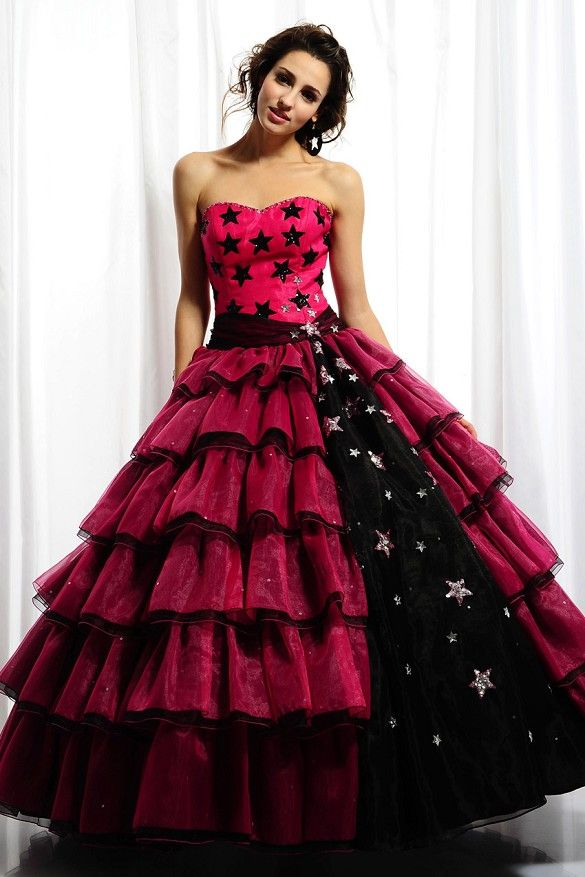81a941d3159 Pattern Sweetheart Empire Organza Ball Gown Quinceanera Dress. Stars ...