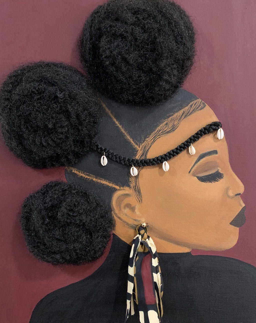 3d Canvas Prints With Hair Inspire By Tyler Llc Black Girl Magic Art Black Women Art Black Art Painting
