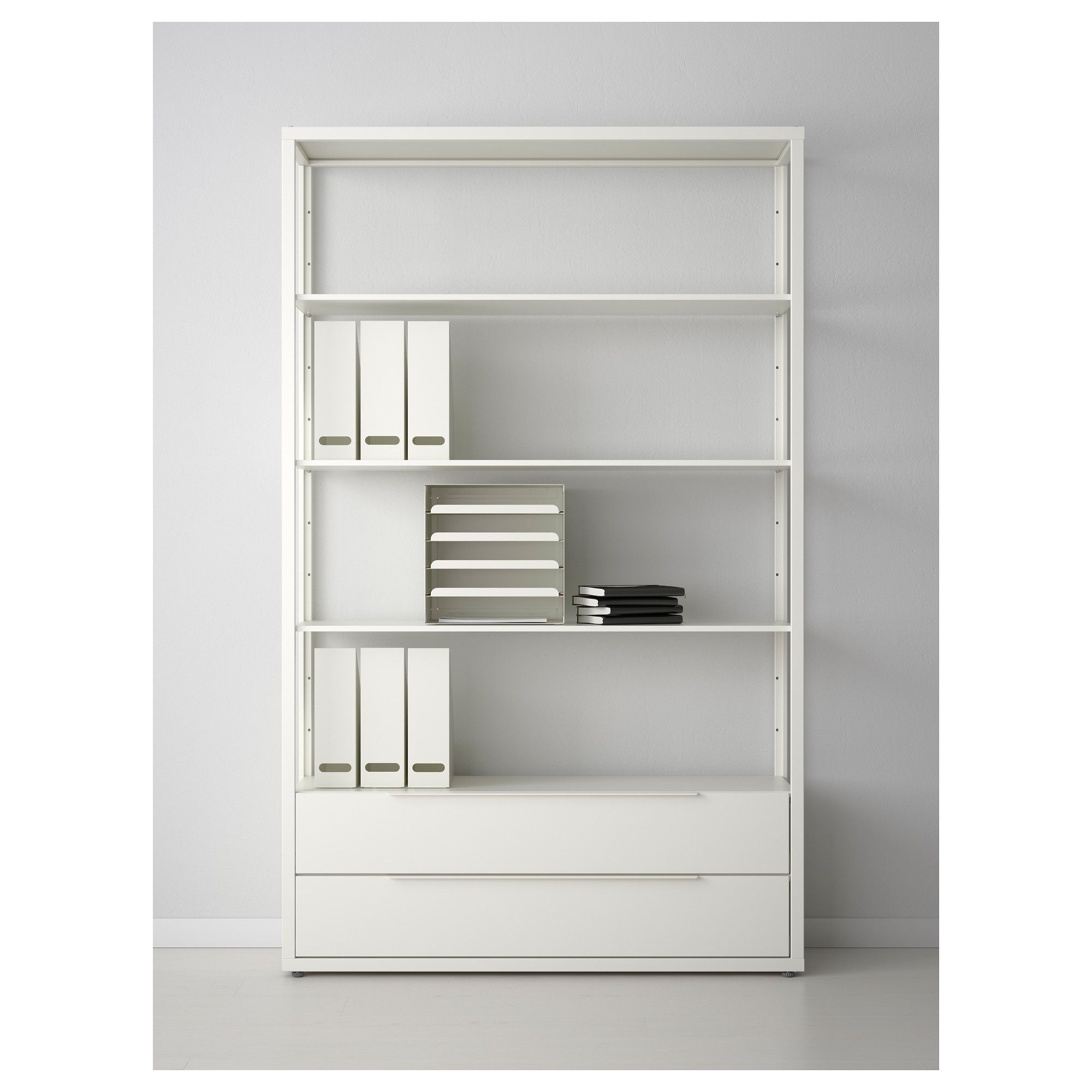 "FJ""LKINGE Shelf unit with drawers white"