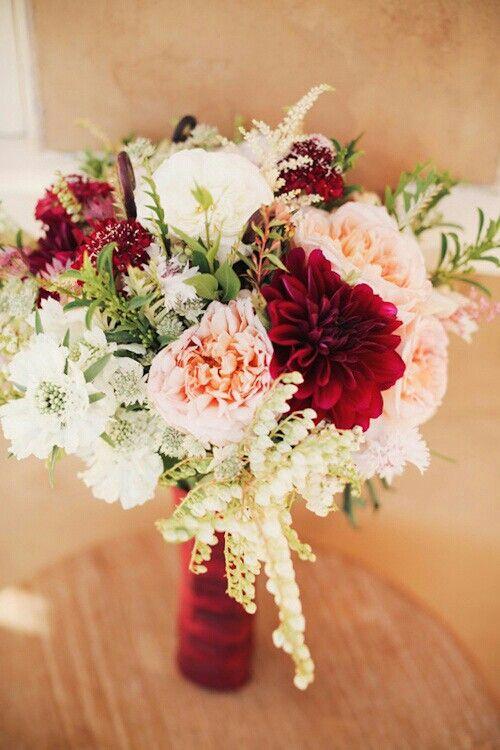Wedding Bouquet Red Wedding Flowers Blush Fall Wedding Wedding Flowers