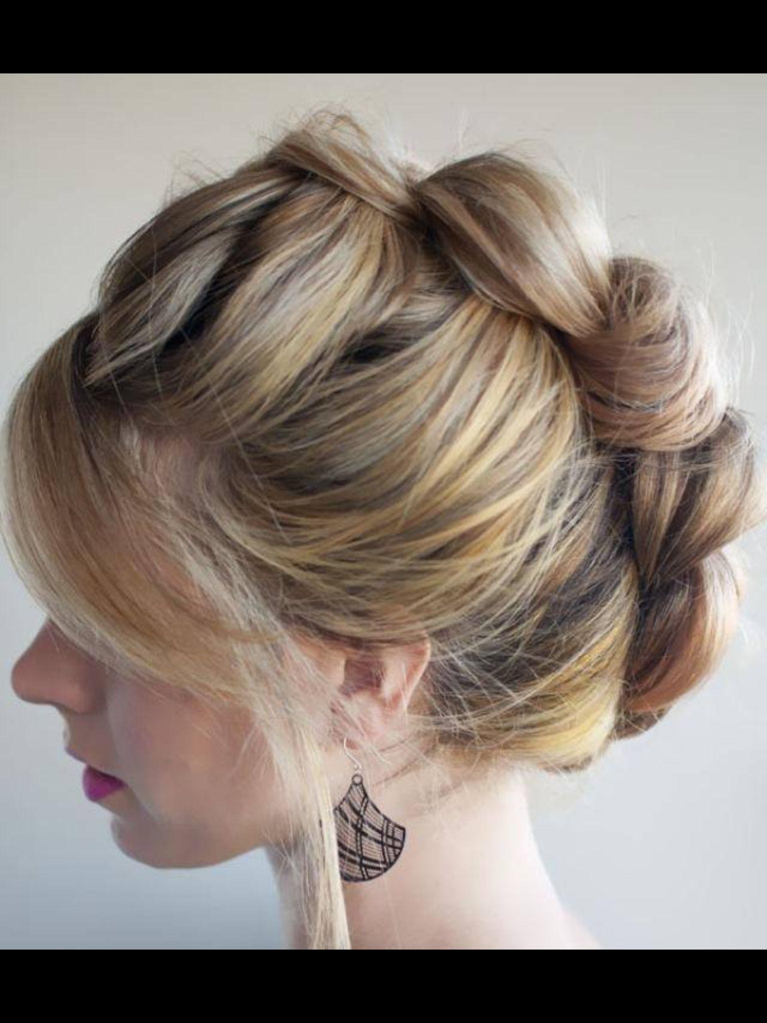 Knot updo hair pinterest updo