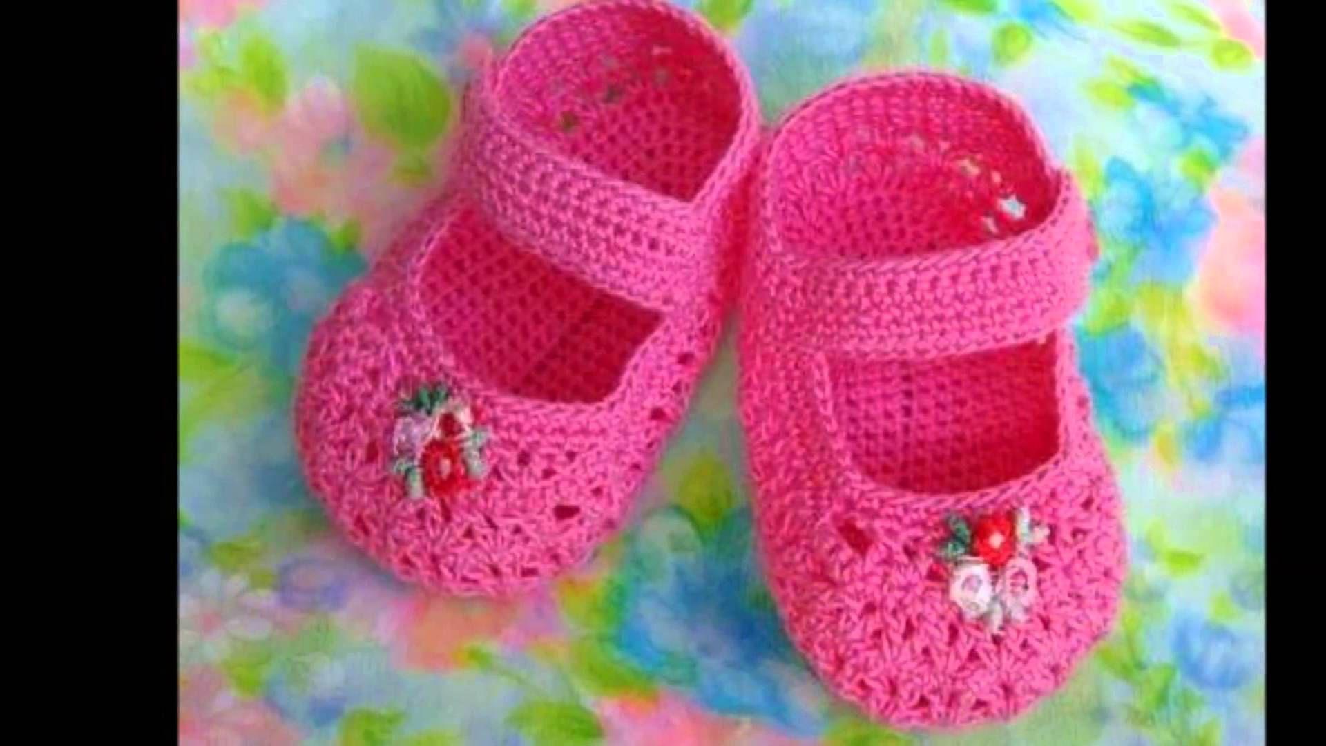 Modelos de zapatillas tejidas a ganchillo para bebe | zapatos bb ...