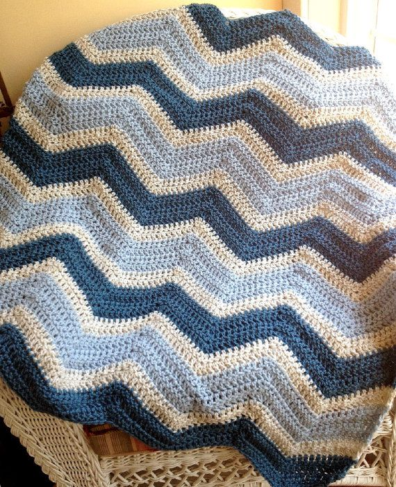 Chevron Zig Zag Baby Blanket Afghan Wrap By Jdcrochetcreations