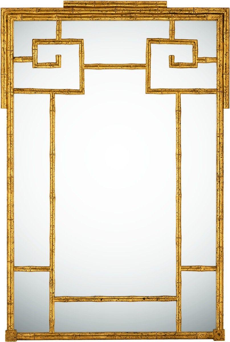 Gold bamboo mirror