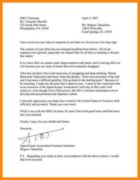 Letter Of Resignation Nursing Template Letter Sample Sample