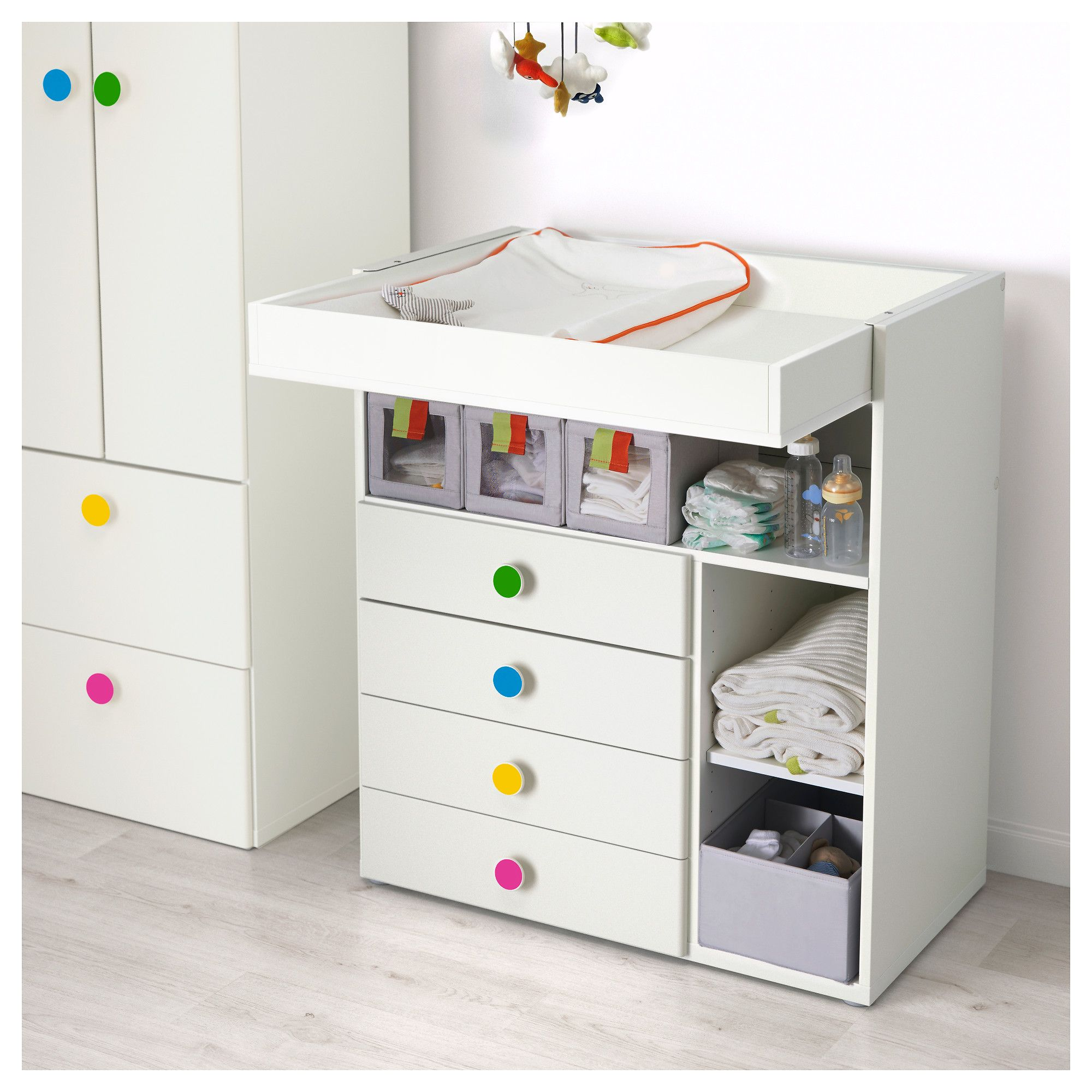 Ikea Stuva F Lja Changing Table With 4 Drawers White  # Ikea Etegere Cube Modulo Bois