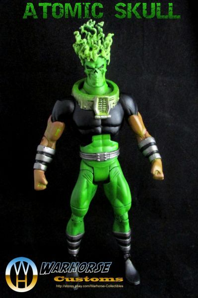 Atomic Skull! I used OMAC base, Ghost Rider head, modified