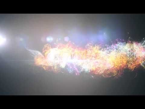 Glowing Particles Dust Wave Logo - after effect project