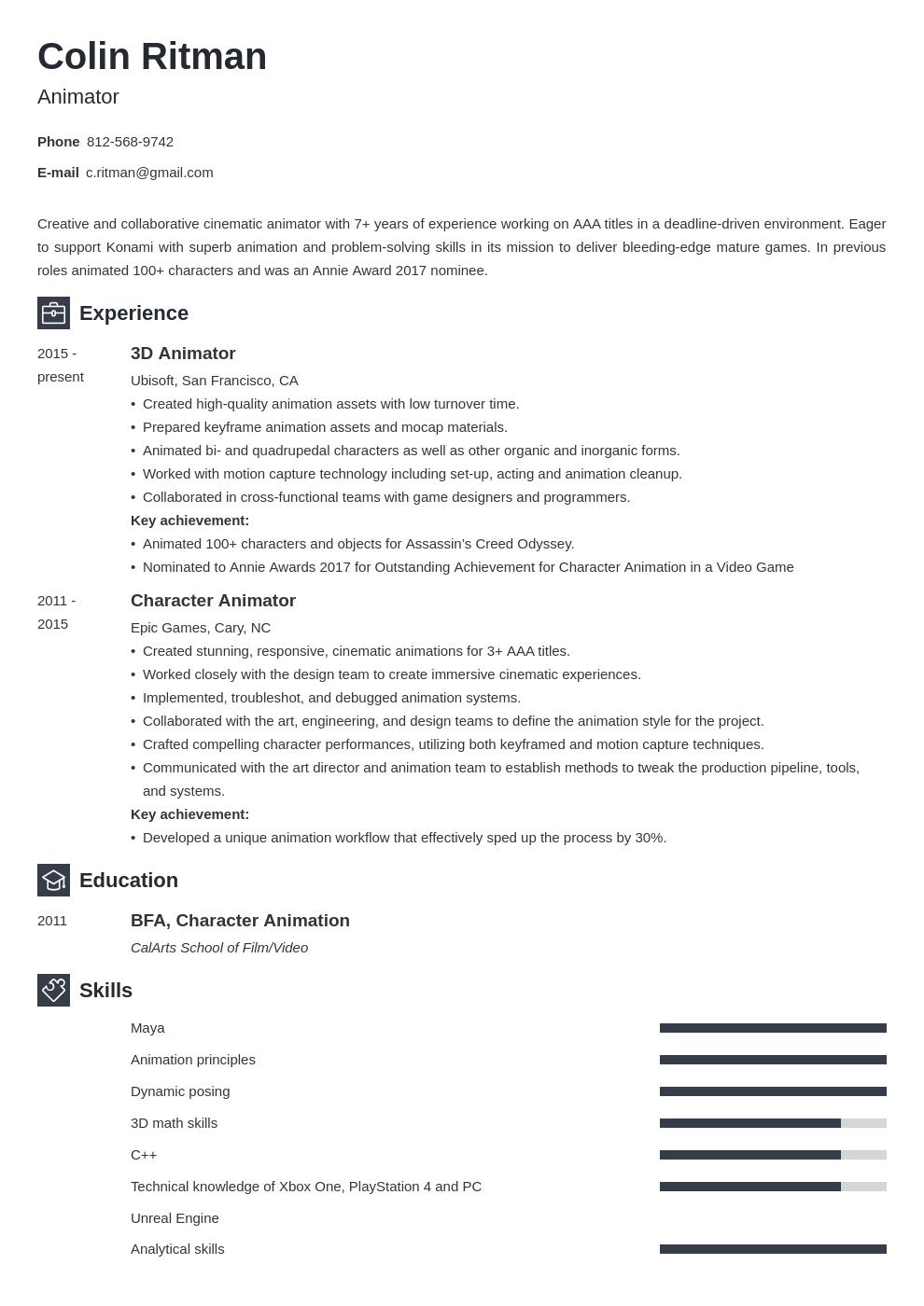 Animator Resume Example Template Newcast Resume Examples Job Resume Examples Guided Writing