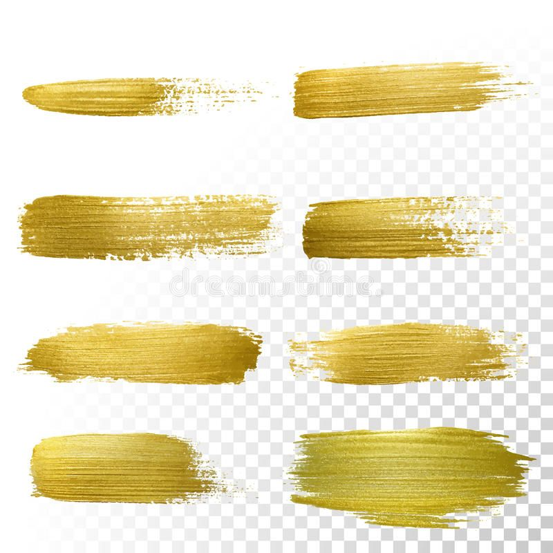 Vector Gold Paint Smear Stroke Stain Set Abstract Gold Glittering Textured Art Spon Smear Stroke Stain Gold Paint Rose Gold Brushes Glitter Pictures