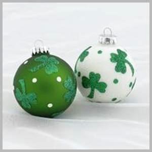 irish christmas ornament set