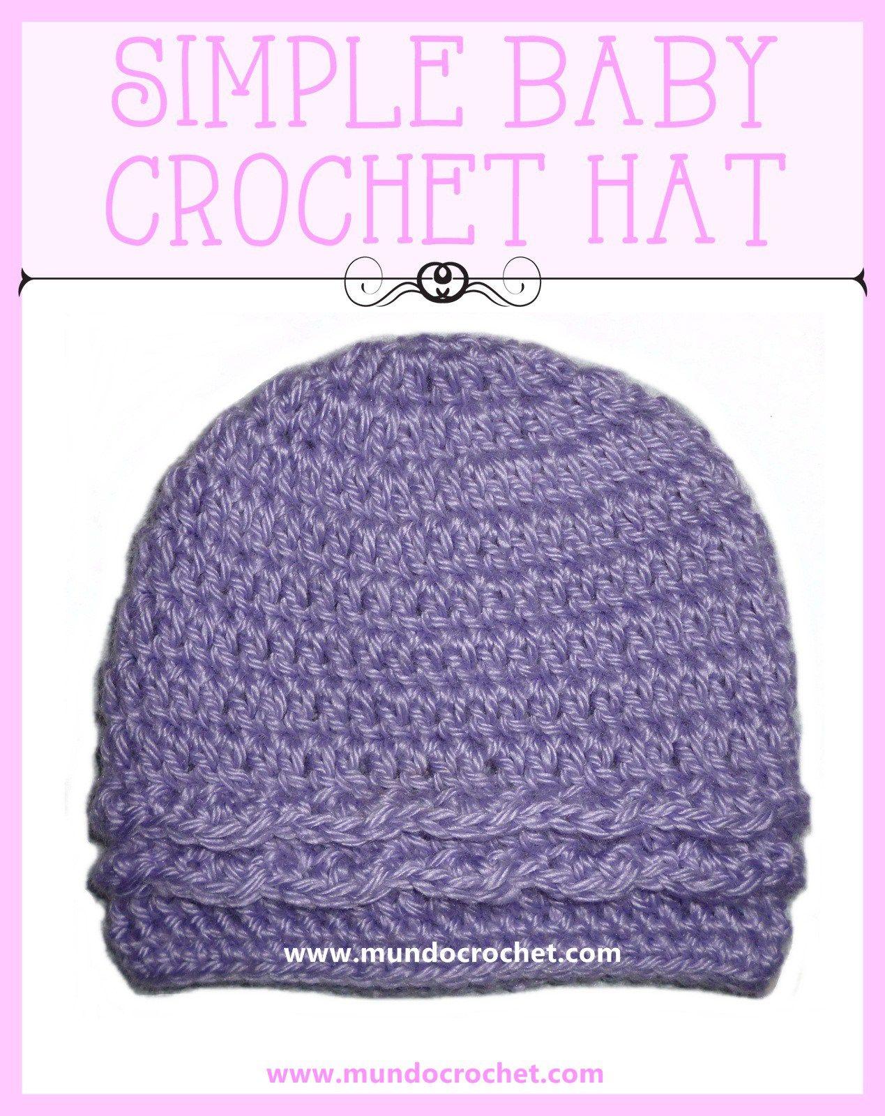 Simple baby Crochet hat | Crochet for babies/kids | Pinterest