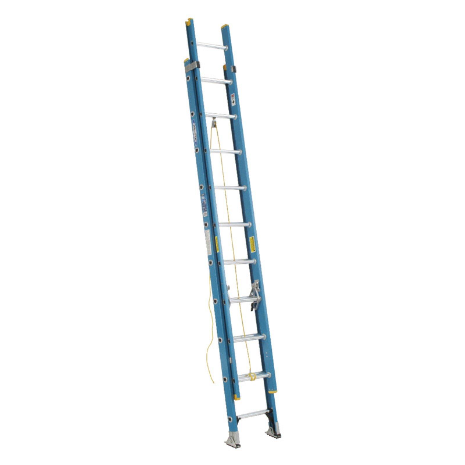 Werner D6020 2 20 Ft Fiberglass Extension Ladder Fiberglass Extensions