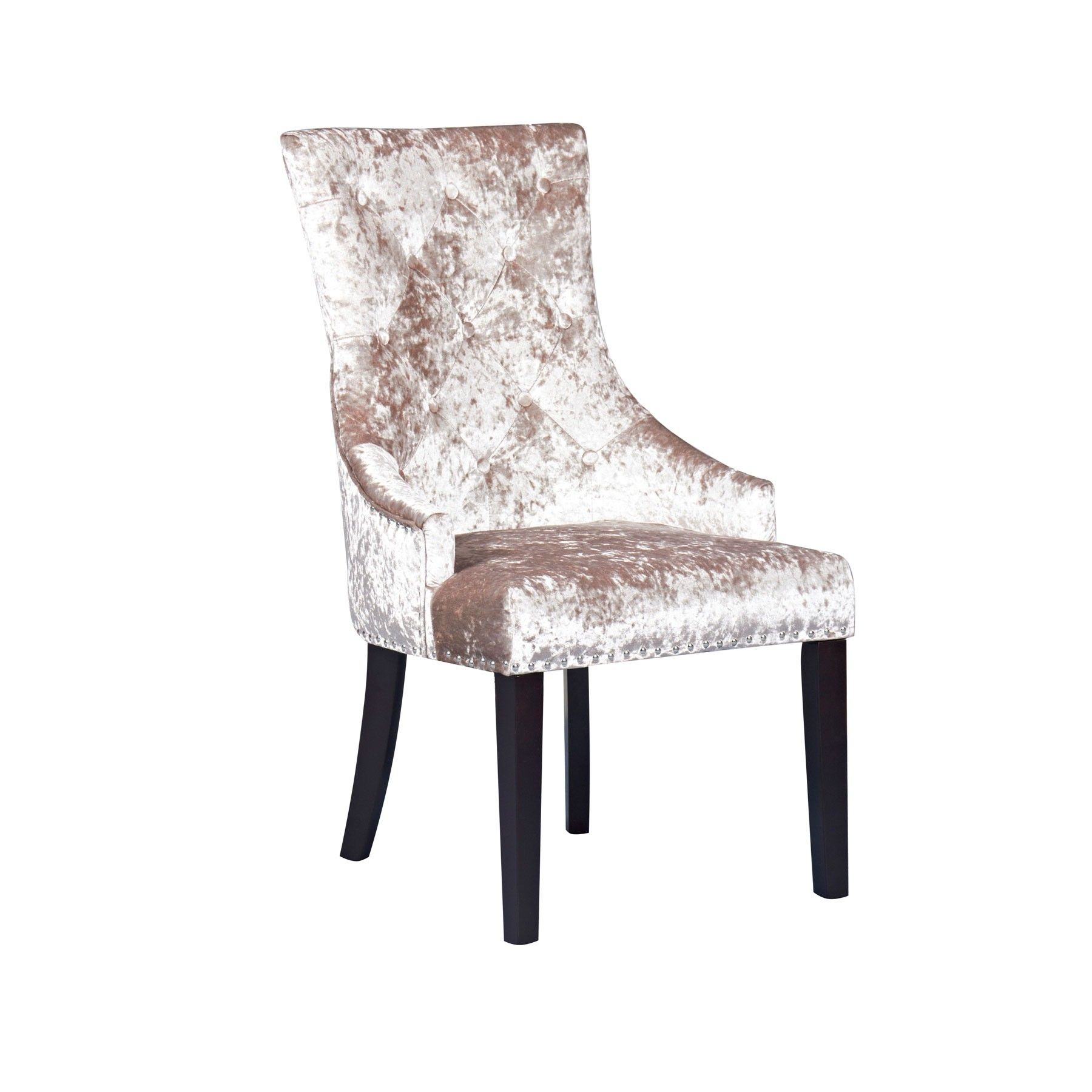The Louis Mink Dining Chair Is Sure To Impress Thanks An Eye Catching Wenge Legs And Crushed Velvet Fabric Has A Seat