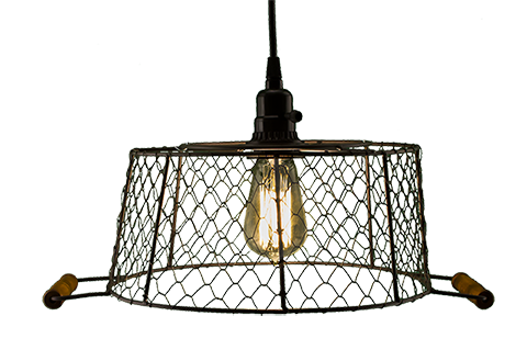 Tla54362ru Large Rusty Mesh Lamp Shade 16 In X 12 In X 5 5 In Chicken Wire Unique Lighting Rustic Industrial
