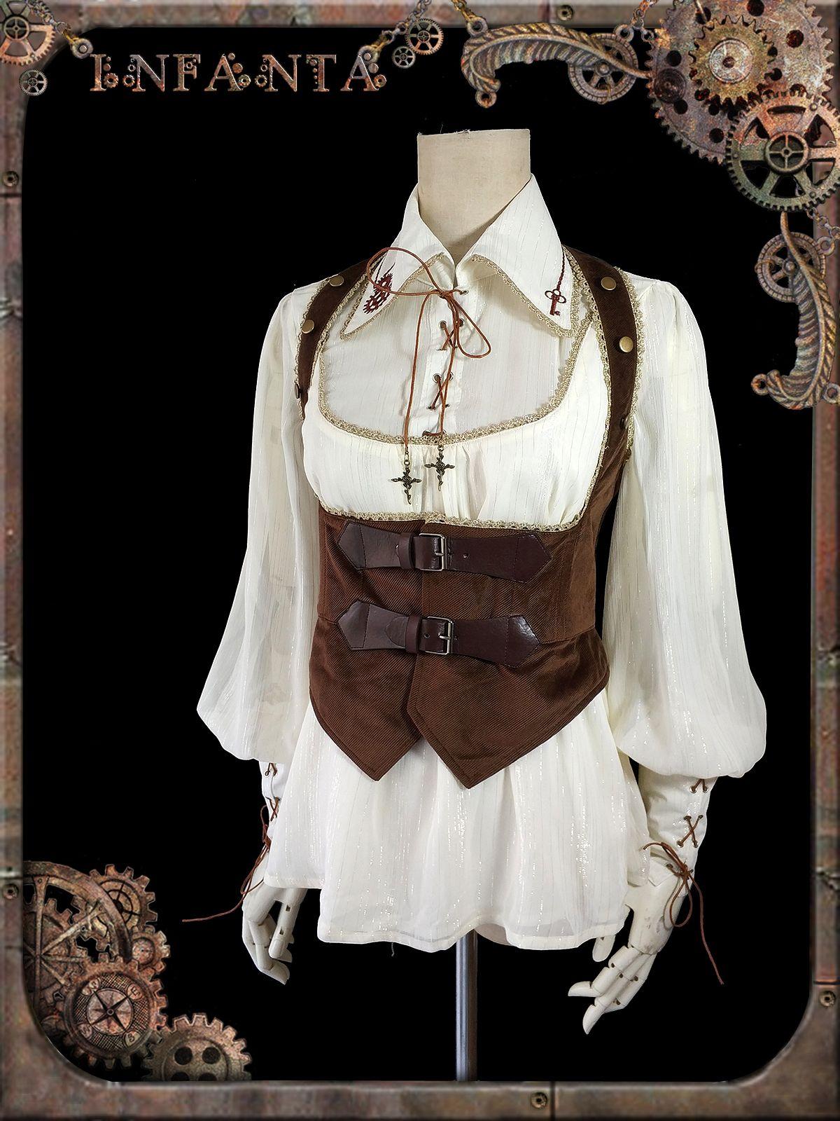 cf665ff8596 Infanta -Antique Mechanical Doll- Steampunk Lolita Corset