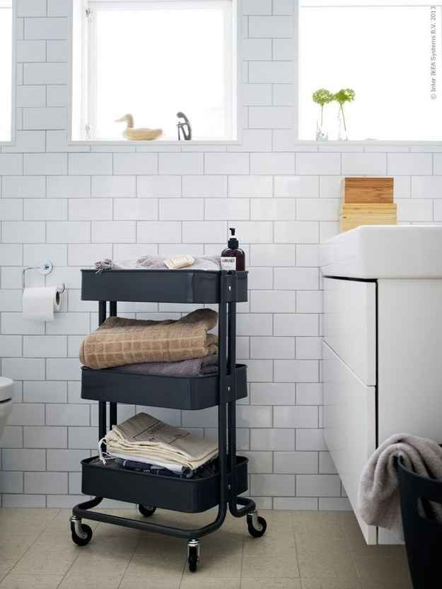 This Kitchen Cart Is The Only Ikea Item You Really Need  Bathroom Alluring Small Bathroom Cart Decorating Design