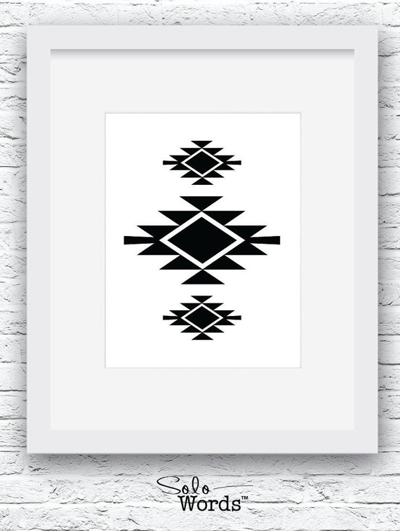 southwestern print black and white navajo print