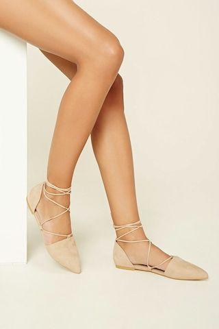best sneakers 4bc1a 96808 Flats Cordones Cruzados - Mujer - Zapatos - 2000232872 - Forever 21 EU  Español