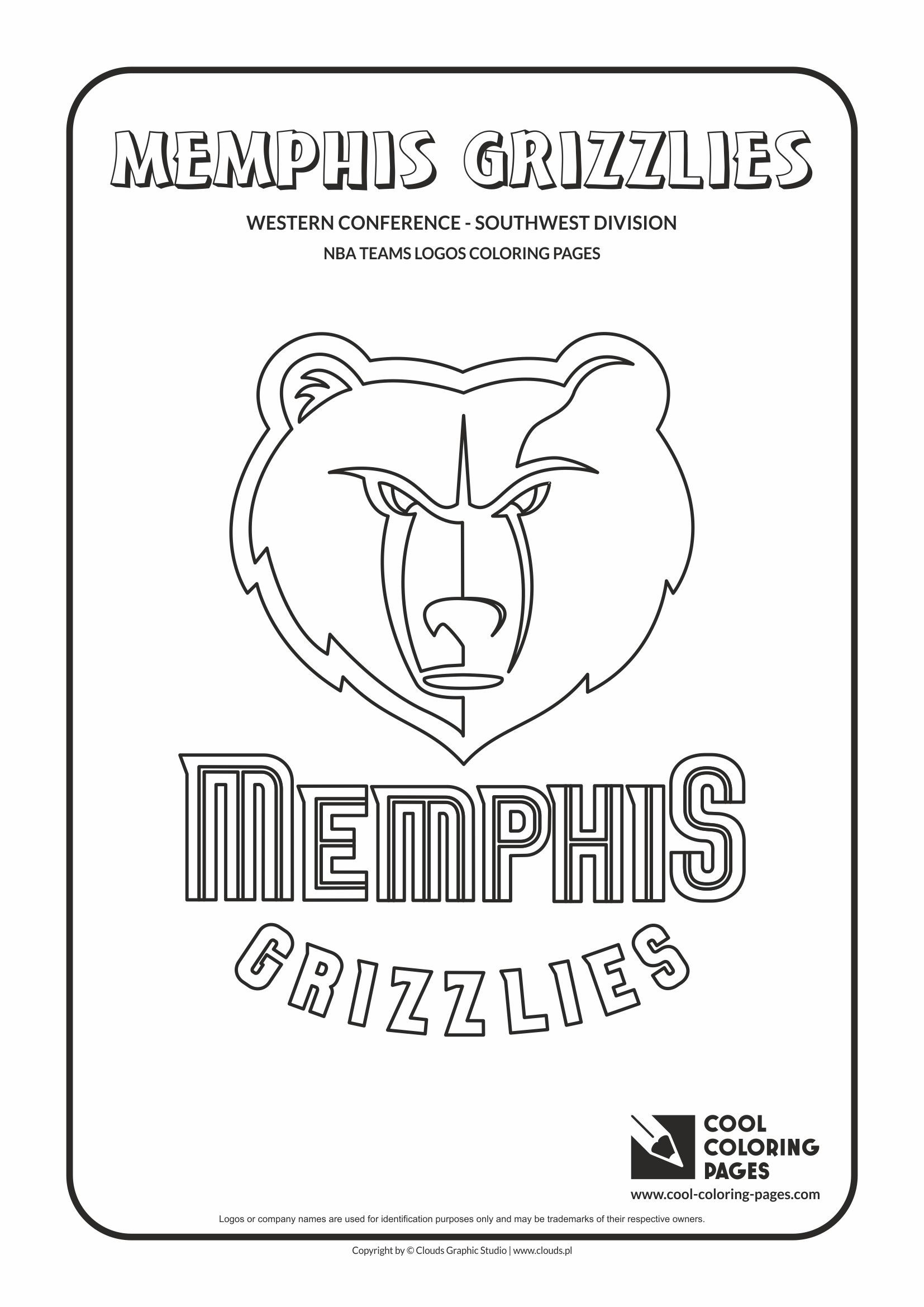 Memphis Grizzlies Nba Basketball Teams Logos Coloring Pages