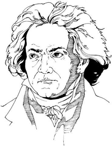 Ludwig Van Beethoven Dibujo para colorear. Categorías: Compositores ...